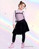 Чудова оксамитова спідниця  для дівчинки 122-140р, фото 4