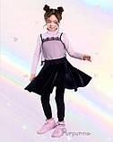 Чудова оксамитова спідниця  для дівчинки 122-140р, фото 5