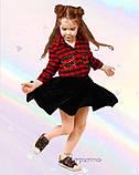Чудова оксамитова спідниця  для дівчинки 122-140р, фото 3