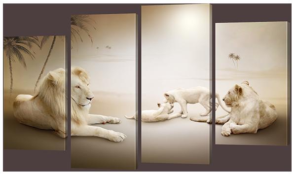 Модульная картина Interno Эко кожа  Прайд 166x120см (A794XXL)