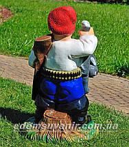 Садовая фигура Козак охотник и Свинопас, фото 3