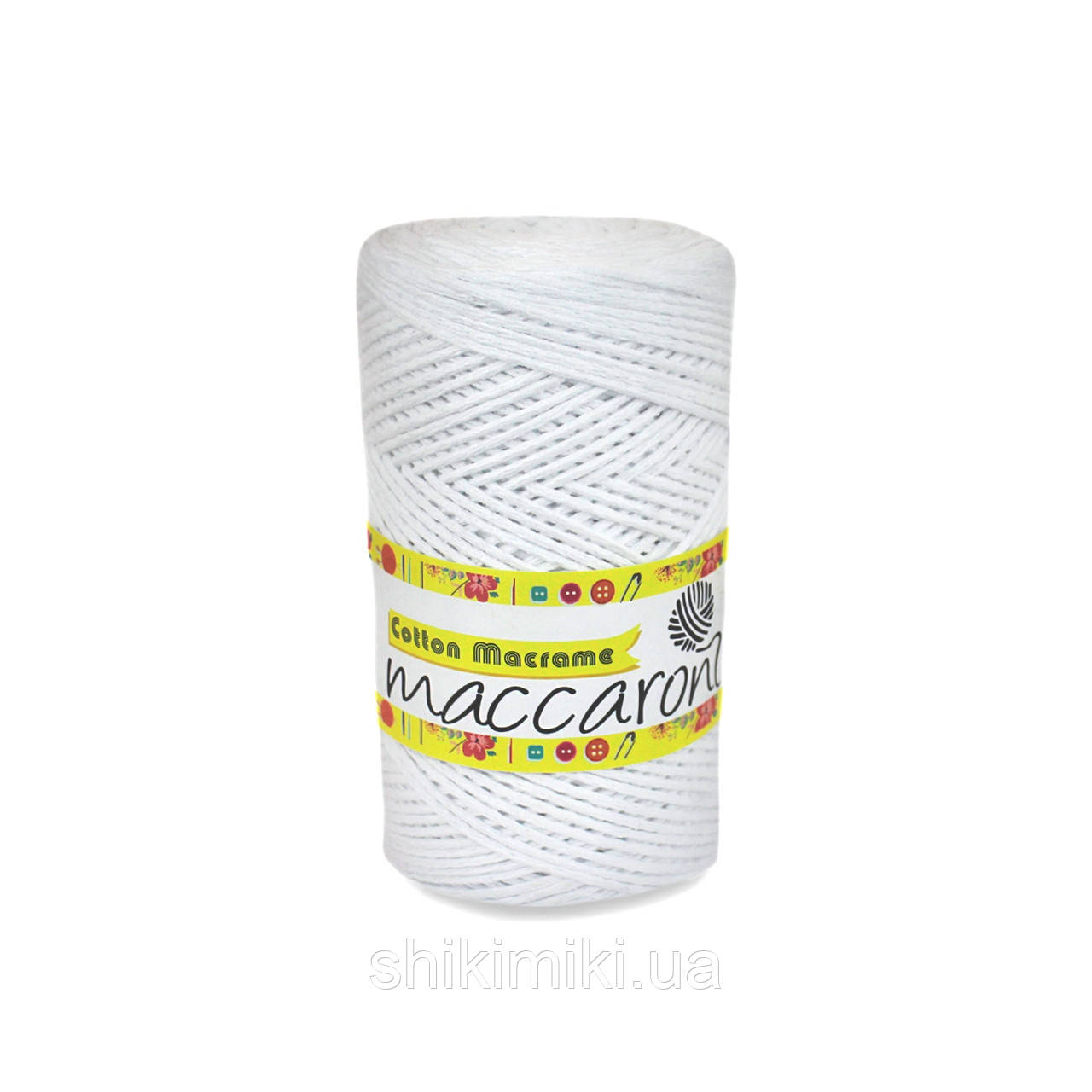 Эко Шнур Cotton Macrame, цвет Белый