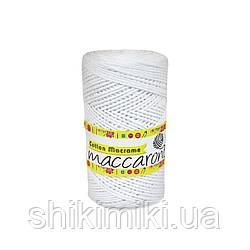 Эко Шнур Cotton Macrame, цвет Белый
