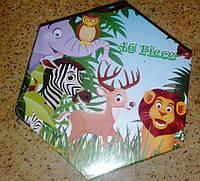 """Набір для дитячої творчості """"Зоопарк"""" (46 предметів) шестигранний, фото 1"""