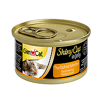 Влажный корм для кошек GimCat Shiny Cat 70 г (курица и тунец)