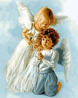 """Раскраски по номерам """"Ангельские дети"""" 40х50см, С Коробкой"""