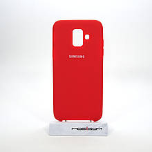 Чехол Original Soft Samsung Galaxy A600 A6 2018 red
