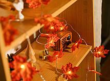 """Светодиодная гирлянда """"Кленовый лист""""водонепроницаемая (20 светодиодов), фото 3"""