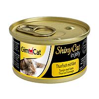 Вологий корм для кішок GimCat Shiny Cat 70 г (тунець, сир), G-414300