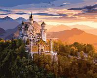 Красивые и Яркие Картины по номерам Замок в лучах заката раскраска антистрес, 50 х 65 см С Коробкой