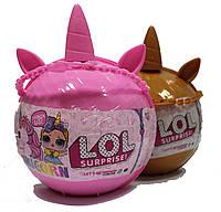 Набор LOL Pearl Surprise ЛОЛ Единорог в розовом шаре BB3, реплика, фото 1