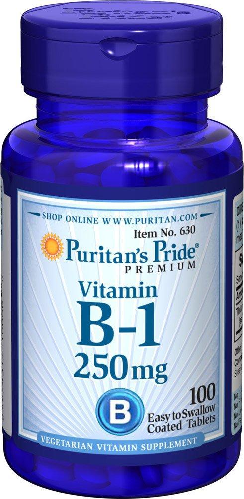 Puritan's Pride Vitamin B-1 250 mg 100 tablets