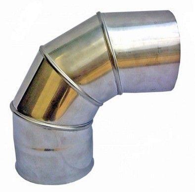 Колено 90° Ф120 1 мм AISI 304