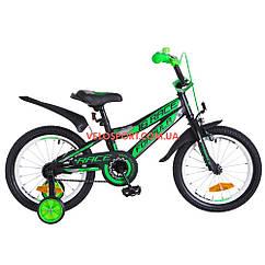 Детский велосипед Formula Race 16 дюймов черно-салатный