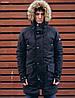 Зимняя мужская черная парка Staff trento black modern
