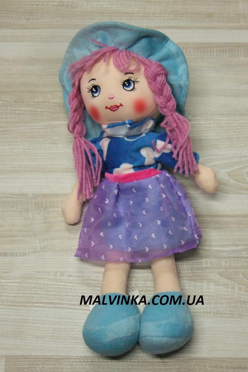 Мягкотелая кукла, говорит(рус)  арт 5553 голубая 38. см