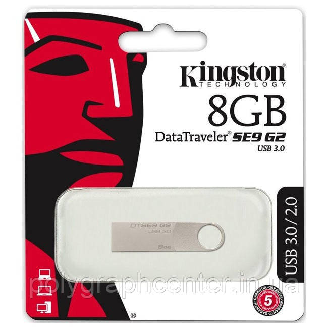 Флешка Kingston DTSE9 G2 8 GB USB 3.0