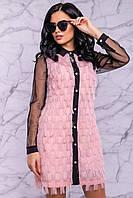 Платье 12-1076 -  персиковый: М L XL XXL, фото 1