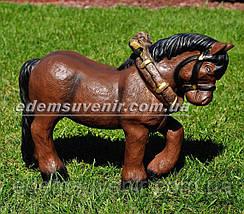 Садовая фигура Лошадка с телегой, фото 3