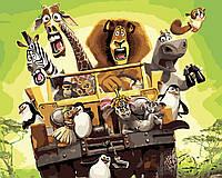 "Картина по номерам ""Мадагаскар"", отличный подарок, 40 х 50 см, Без Коробки"