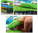 М'яка книга для малюків. Ноги. Крокодил. Повчальна історія англійською мовою. jollybaby, фото 6