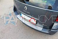 Накладка на задний бампер нержавейка (Защита бампера) для Renault Megane 2 Combi Универсал
