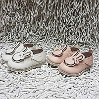 Туфли для новорожденных с зайками и стразами