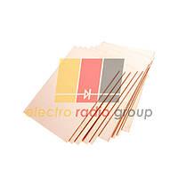 Текстолит фольгир.двухстор. 1мм,  100 х 100 мм