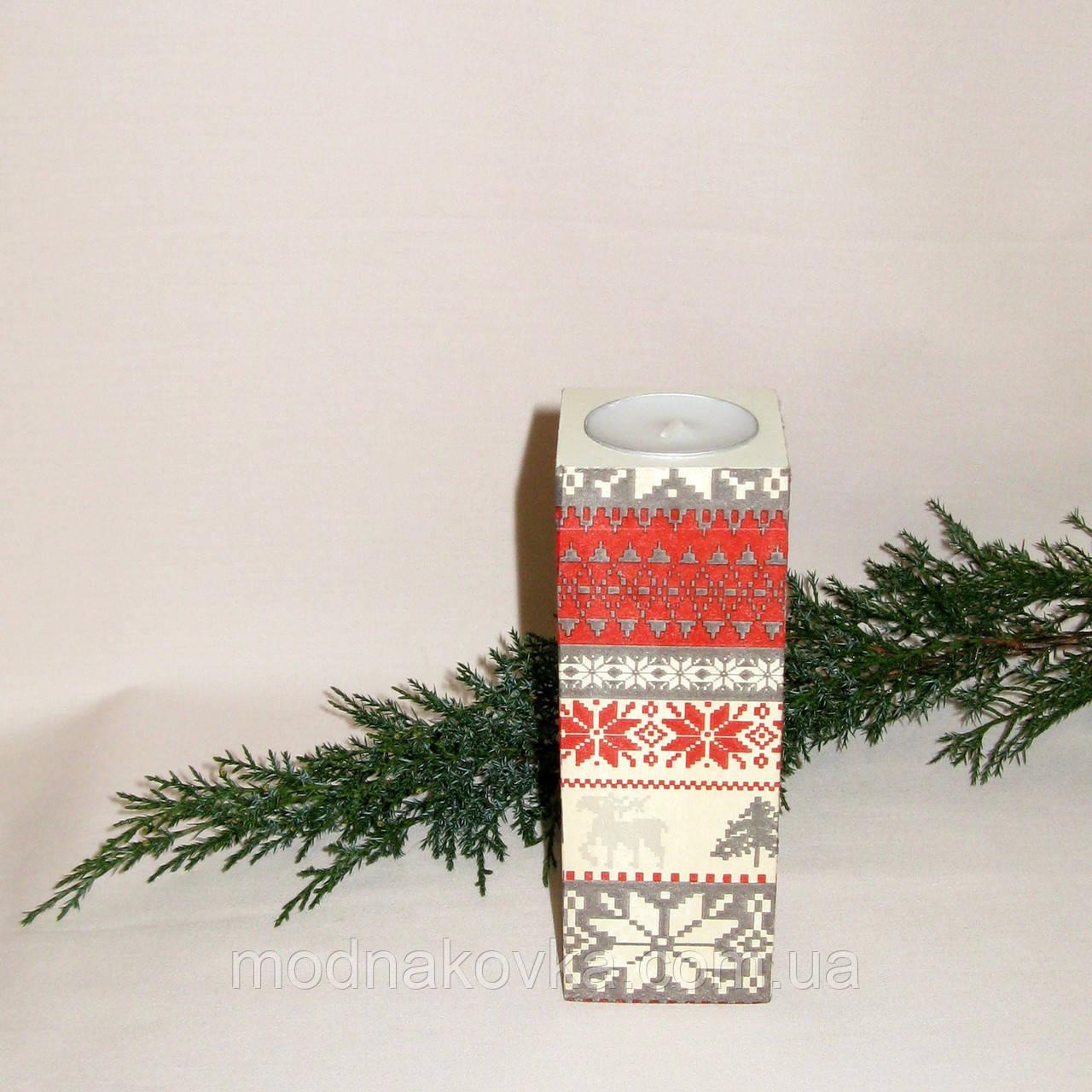 Подсвечник - новогодний декор ручной работы