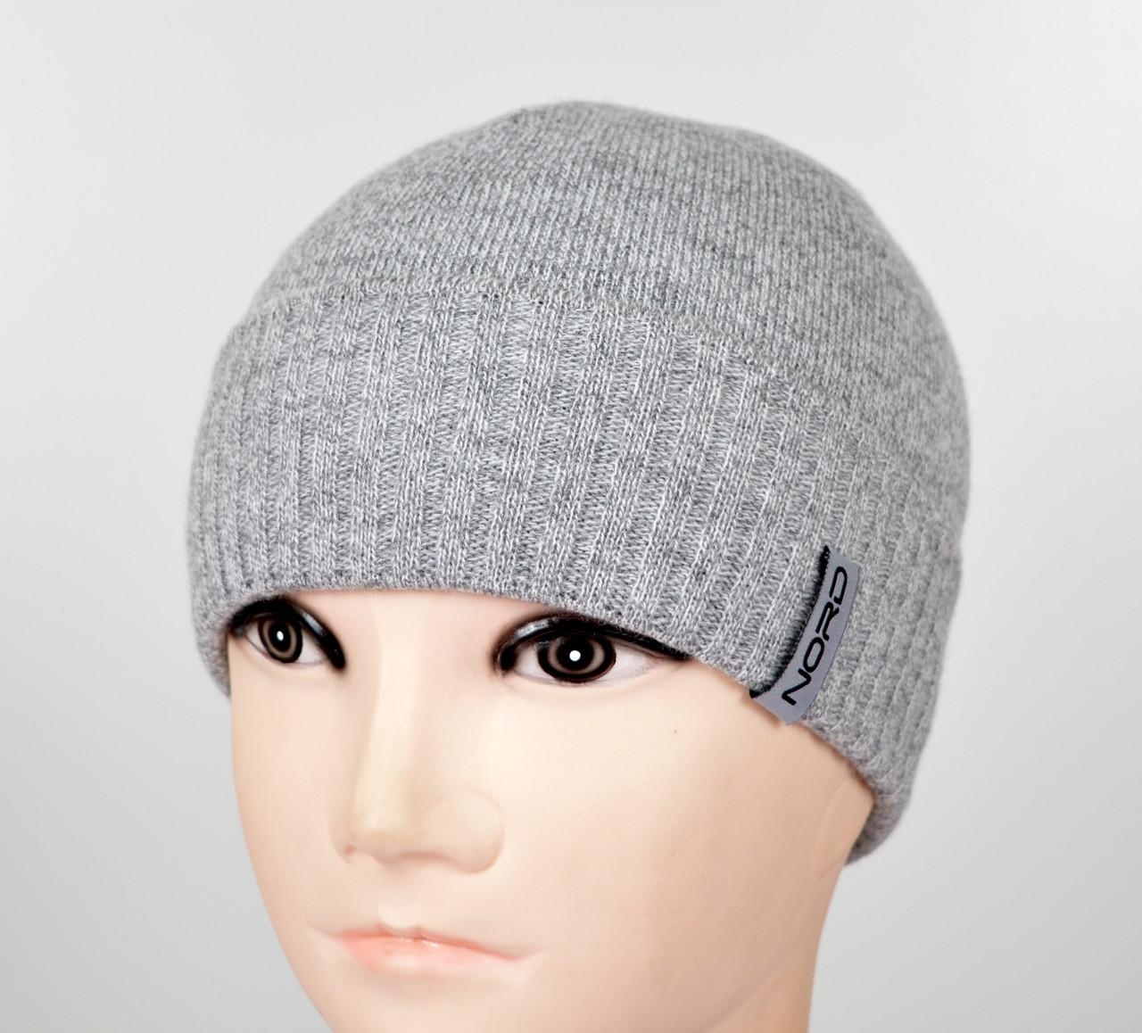 Мужская шапка Nord S-1803 св.серый