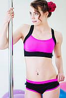 Шорты и топ для танцев, стриппластики, пол дэнс, тверк, пилона, , фитнеса, strtching pole dance, pole sport