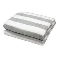 Мягкое одеяло для малышей. Серо белая полоска. CKKBaBY