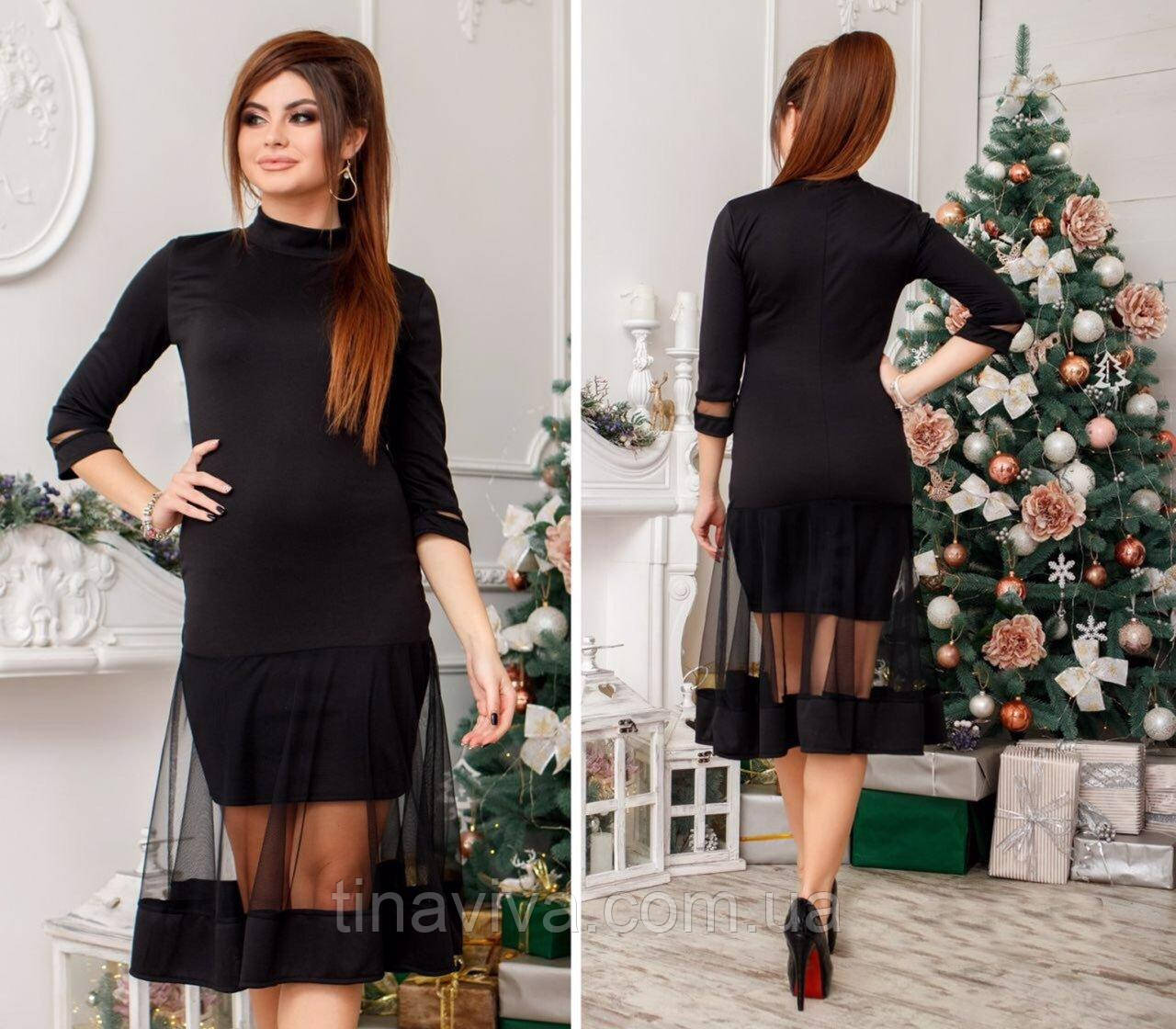 """женское  платье в черном цвете  (жіноче плаття ) """"Альва"""""""