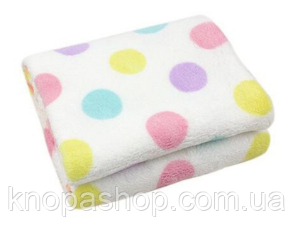 Мягкое одеяло для малышей. Разноцветные круги . CKKBaBY