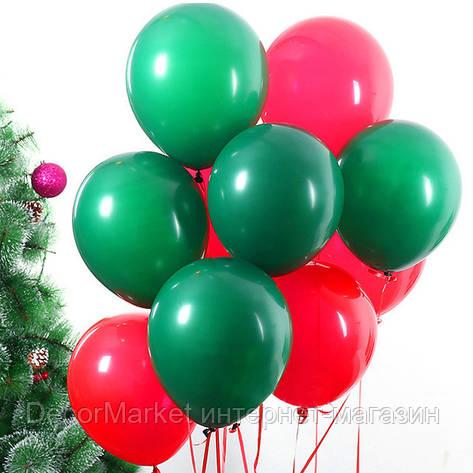 Набор воздушных шаров на Новый Год 07, (30 см - 21 шт) , фото 2
