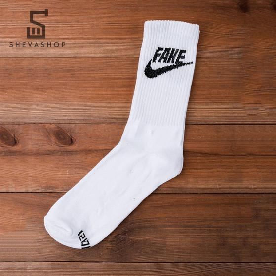 Длинные носки PUNCH - Fake белые, фото 1