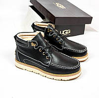 Мужские ботинки UGG Australia David BeckhamFashion Metallic Black (Реплика ААА+)