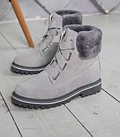 Женские ботинки UGG Australia D&K Sheepskin Gray. Фото в живую. Реплика