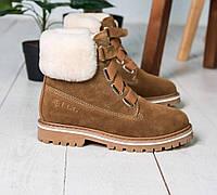 Женские ботинки UGG Australia D&K Sheepskin Brown. Фото в живую. Реплика