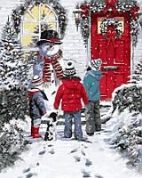 """Раскраски по номерам своими руками """"Рождественская сказка"""" 40х50см, С Коробкой"""