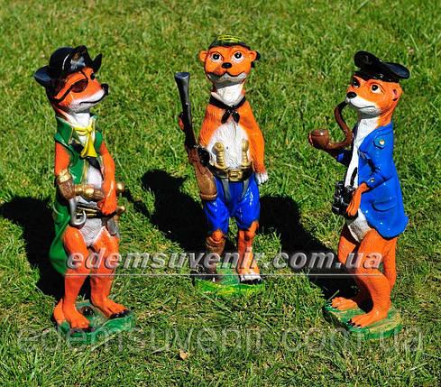 Садовая фигура Суслик капитан, Суслик с ружьем и Суслик пират, фото 2