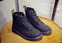Черные ботинки на плоской подошве, фото 1