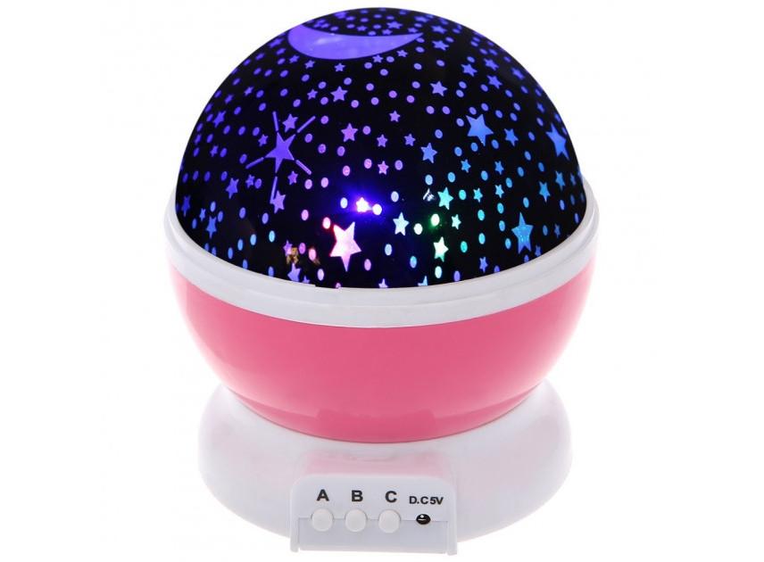 Ночник-проектор звездного неба Star Master Dream  с USB (Стар мастер), розовый