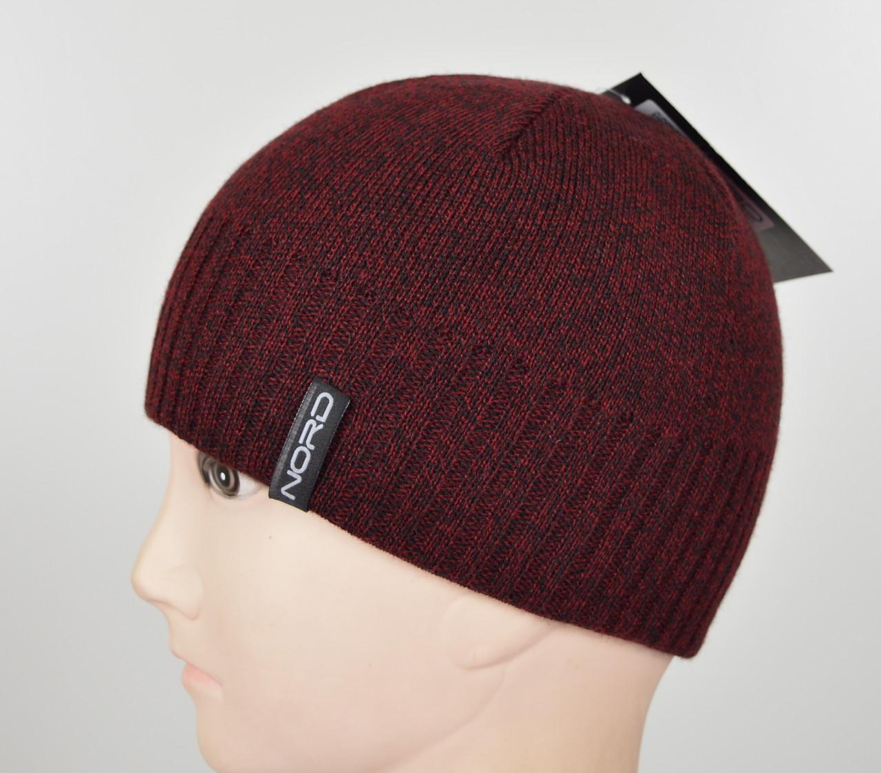 Мужская шапка Nord S-1801 бордо