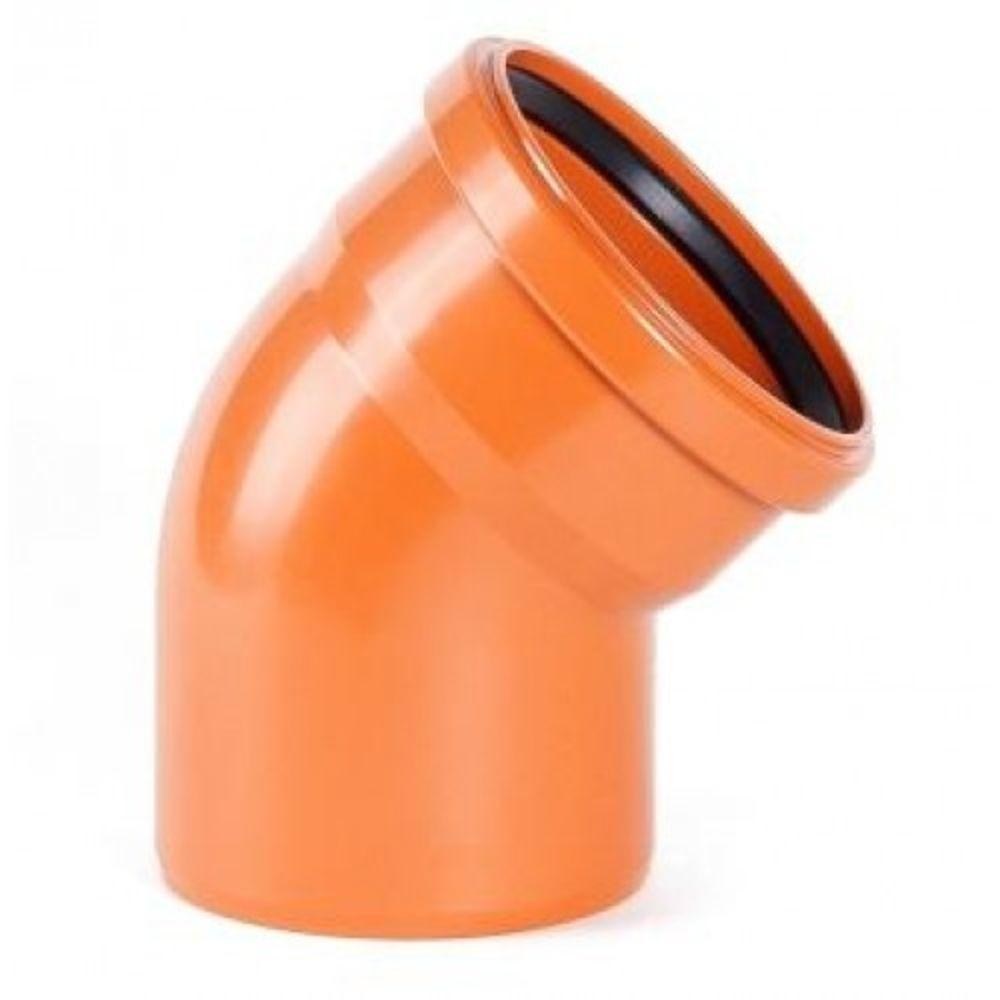 Колено ПВХ 110*30° для наружной канализации