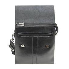 Мужская сумка мессенджер 2 отделения DIWEILU 22х26х6 вертикальная  спилок м С1856-3ч, фото 3
