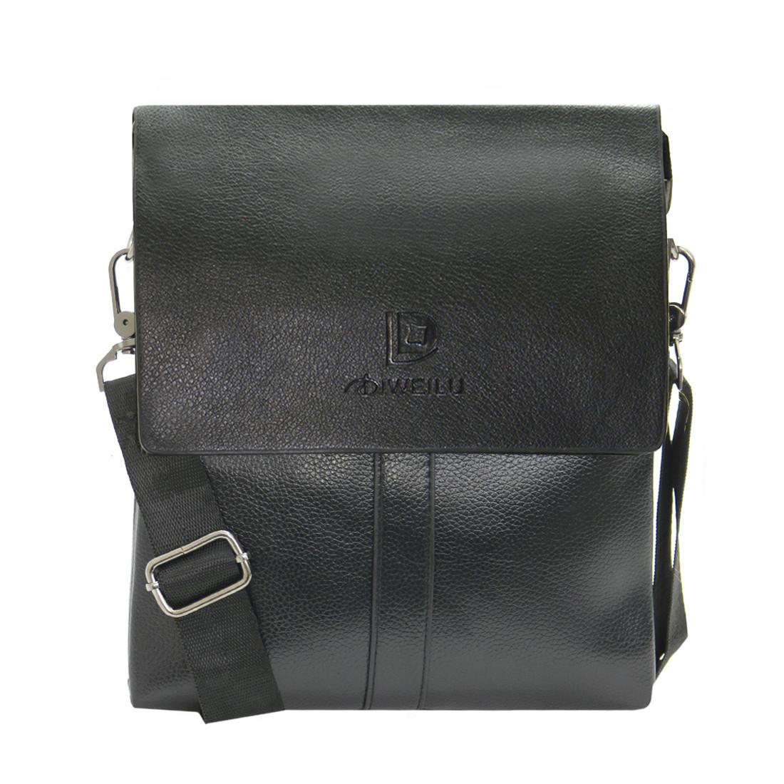 Мужская сумка мессенджер 2 отделения DIWEILU 22х26х6 вертикальная  спилок м С1856-3ч