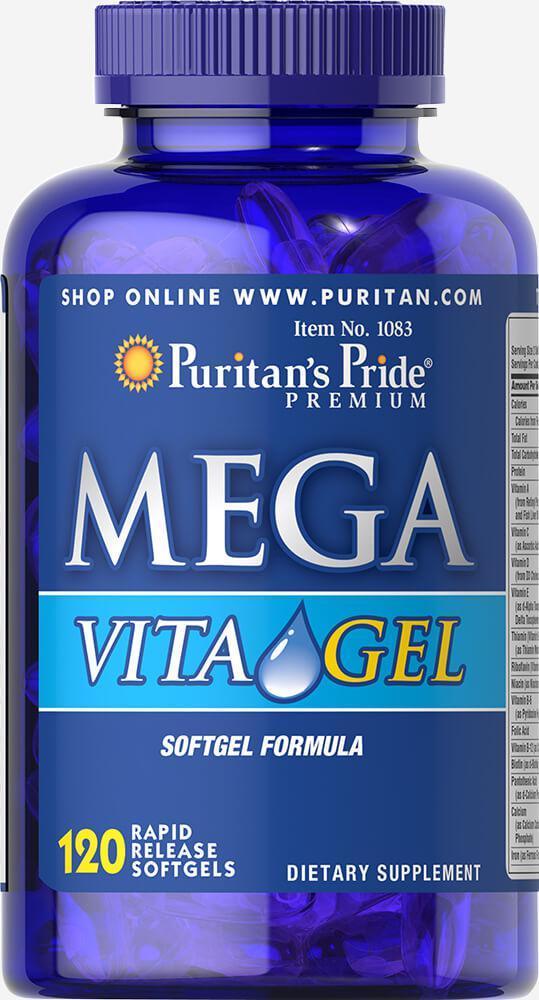 Puritan's Pride Mega Vita Gel 120 softgels