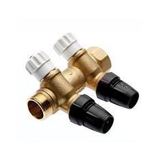 """Коллектор 3/4"""" на 2 контура с запорными вентилями с выводами под трубу 16 мм TECElogo 8730008"""