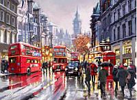 """Картины по номерам """"Автобусы ночного города"""" 40х50см, С Коробкой"""